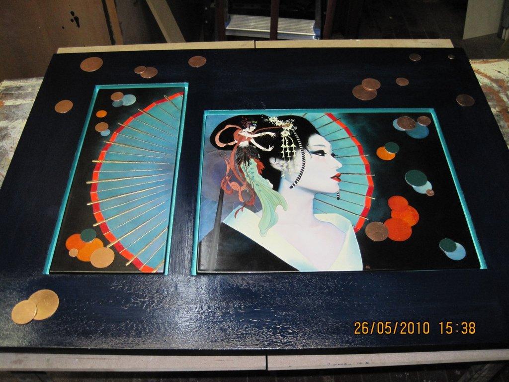 quadro in porcellana dipinta a mano