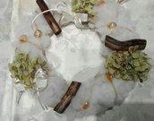fuoriporta natalizio con ortensie essicate