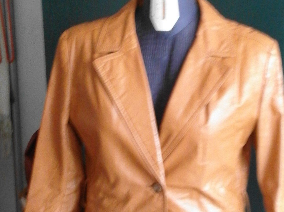 giacca pelle vintage anni 60