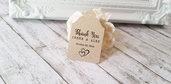 Tags Bomboniere per Matrimonio , Bigliettini per Bomboniere in Carta Kraft Stile Rustic Chic