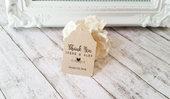 Tag Matrimonio in Carta Kraft, Etichette Personalizzate per Bomboniere, Tags Bomboniere