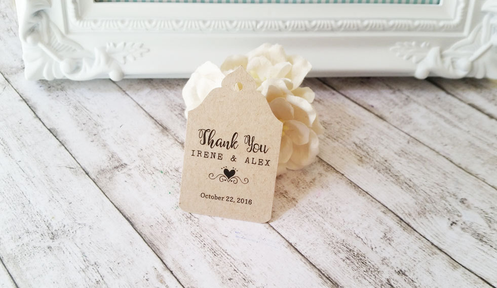 Amato Tag Matrimonio in Carta Kraft, Etichette Personalizzate per  HH45
