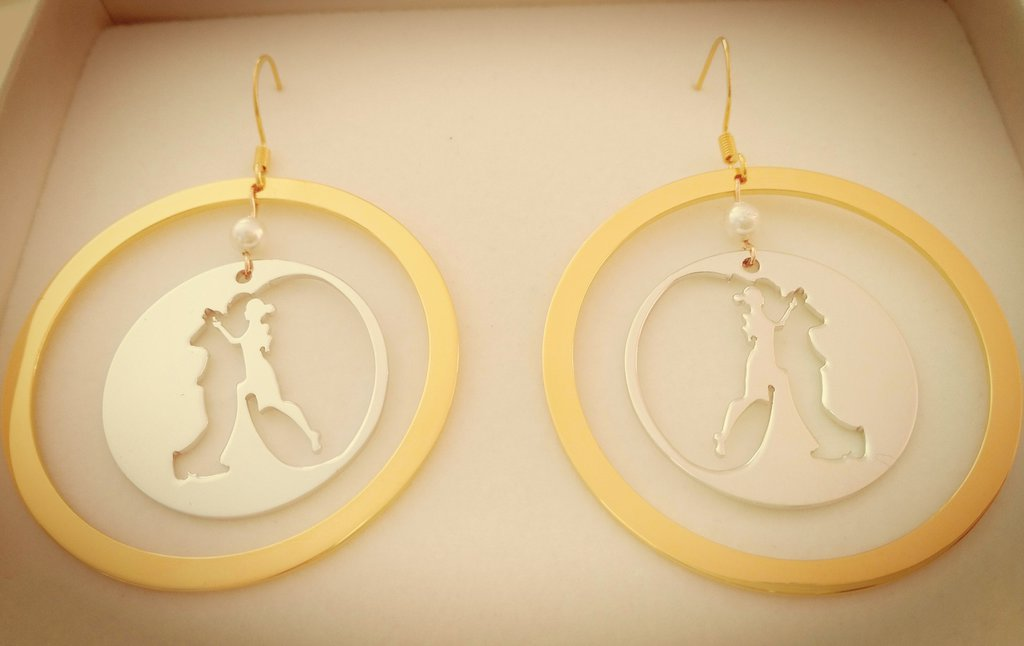 Cerchi bicolor Eclispe acciaio inox bagnato oro bianco e giallo Adornos Design