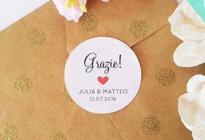 Chiudi Pacco Personalizzati, Adesivi Personalizzabili, Etichette Adesive Matrimonio, 60 pz