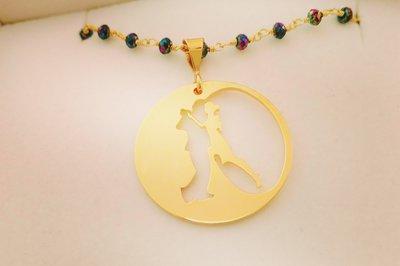 Collana rosario Eclipse bagnata oro giallo Adornos Design