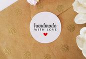 Chiudipacco Adesivi per Prodotti Fatti a Mano, Etichette Adesive Handmade, Adesivi Fatti a Mano