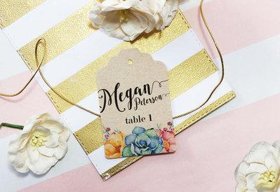 Targhette Segna Tavoli, Etichette Segnaposto, Etichette Personalizzate per Matrimonio
