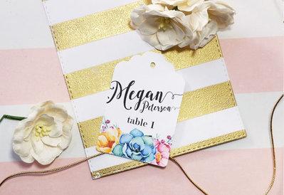 Etichette Segnaposto, Targhette Segna Tavoli, Etichette Personalizzate per Matrimonio