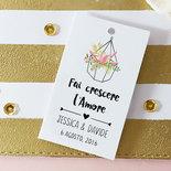 Etichette Fai Crescere l'Amore, Cartellini Bomboniere, Tags Matrimonio Personalizzate Stile Boho, 24 pz