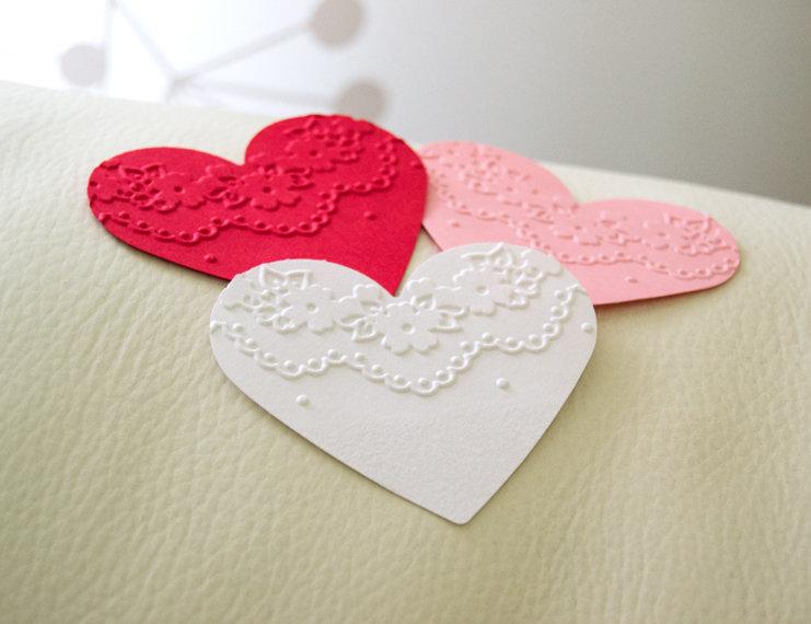 Cuori di Carta, Etichette Cuore, Ritagli Cuore, Cuori Decorati, Cuori Rosa