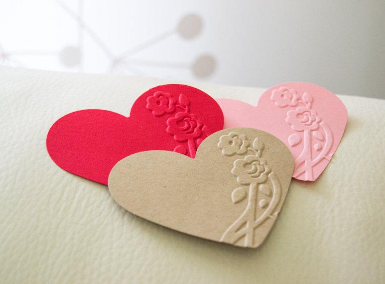 Etichette Rilievo Cuore, Cuori di Carta, Ritagli Cuore, Decorazioni Matrimonio