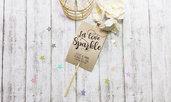 Tags Let Love Sparkle, Etichette Sparkler, Tags Matrimonio Personalizzate