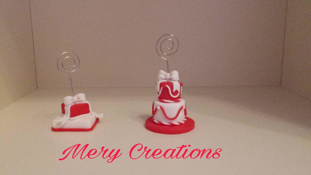 Mini cake design natalizie, segnaposto, fimo