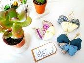 Farfalle di stoffa realizzate a mano
