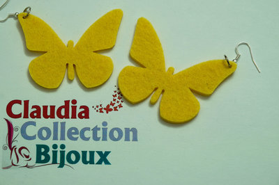 Orecchini in feltro - Farfalle