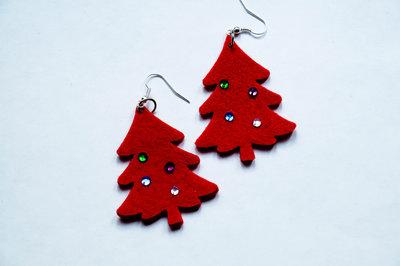 Orecchini in feltro - Albero di Natale