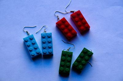 Orecchini mattoncini Lego