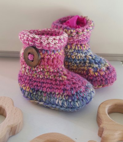 babbucce neonato in lana