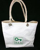 Borsa realizzata con vela riciclata Made in Italy