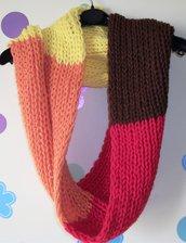 Idea Regalo - Sciarpa Unisex Infinity Ampia in colori caldi