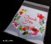 "LOTTO 25 bustine apri/chiudi ""Thank you"" (10x11cm)"