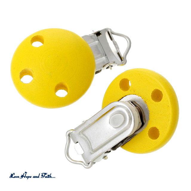 1 Porta ciuccio color giallo (48x28x17mm)