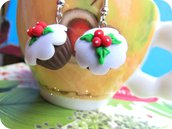 Orecchini Cupcakes Natalizi in Fimo