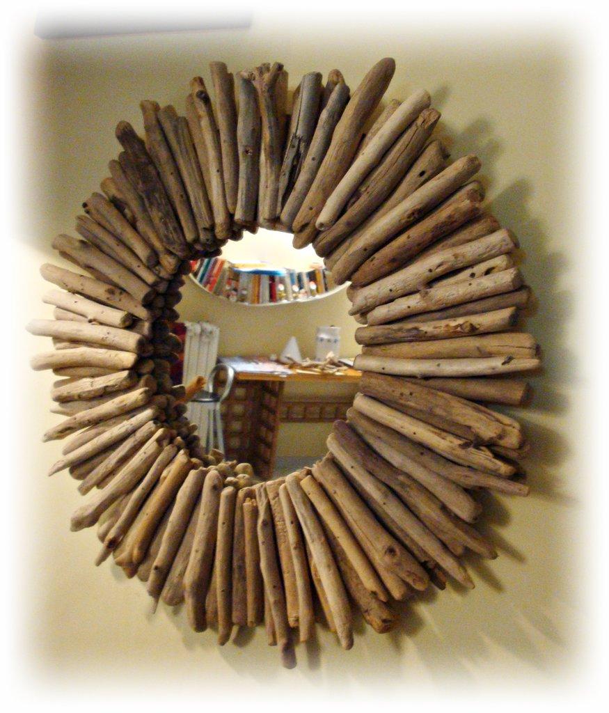 WEAYAYA specchio con legni di mare