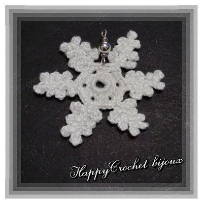 Ciondolo fiocco di neve, Natale, dendrite a stella