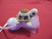 bomboniera o segnaposto simpatica tartaruga all'uncinetto per ogni occasione
