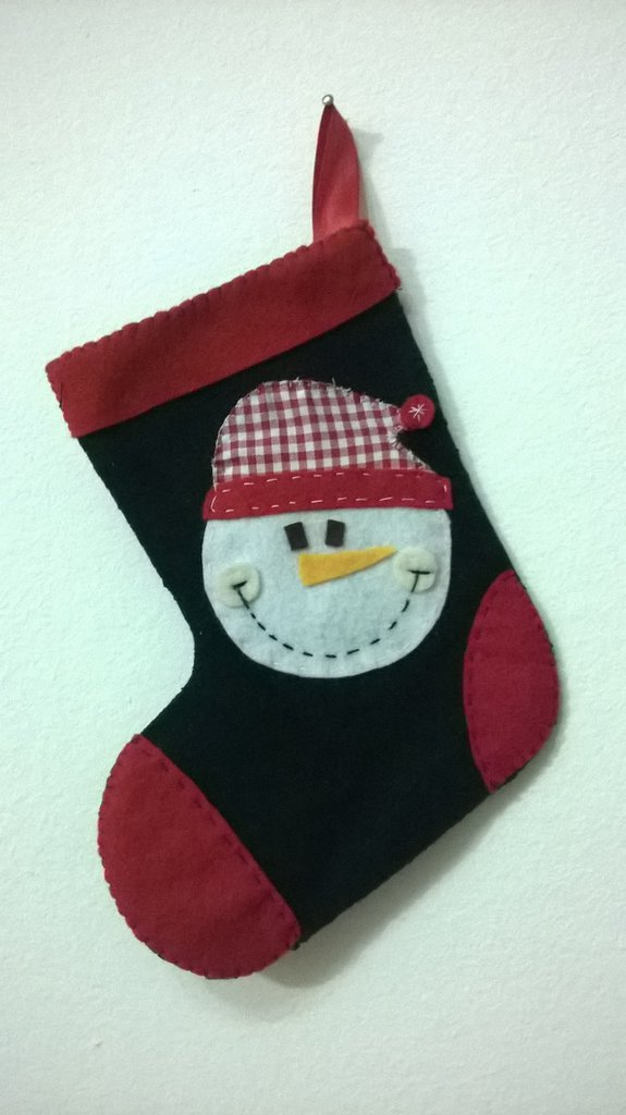 Calza di Natale decorata