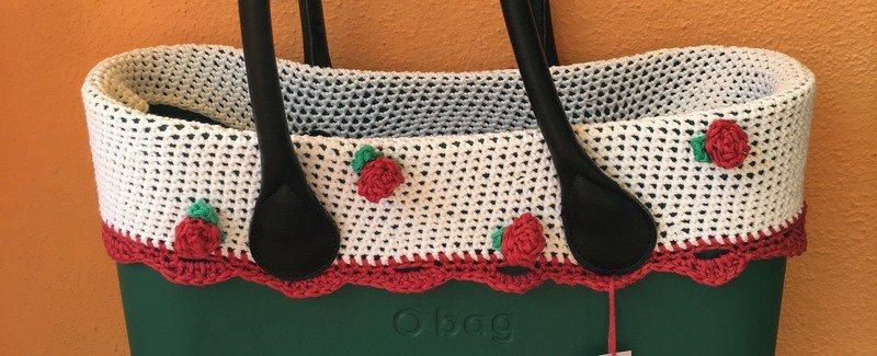 bordo COLORE BIANCO ROSE ROSSE o bag compatibile classic o mini