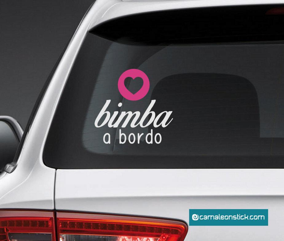 adesivo bimba a bordo - sticker auto per bambini - adesivo lunotto macchina