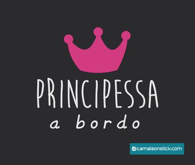 adesivo principessa a bordo - sticker auto per bambini - adesivo lunotto macchina
