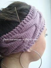 Fascia per capelli trendy in lana merino