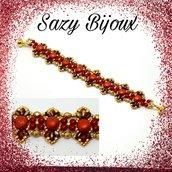 GRANADA: Bracciale in tessitura di perline con cristalli