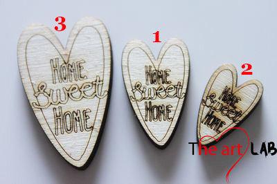 """Cuori """"Home sweet Home""""_set"""