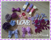 "Set creativo ""Romantic in purple"""