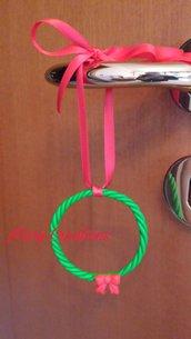 Ghirlanda natalizia decorativa, fimo