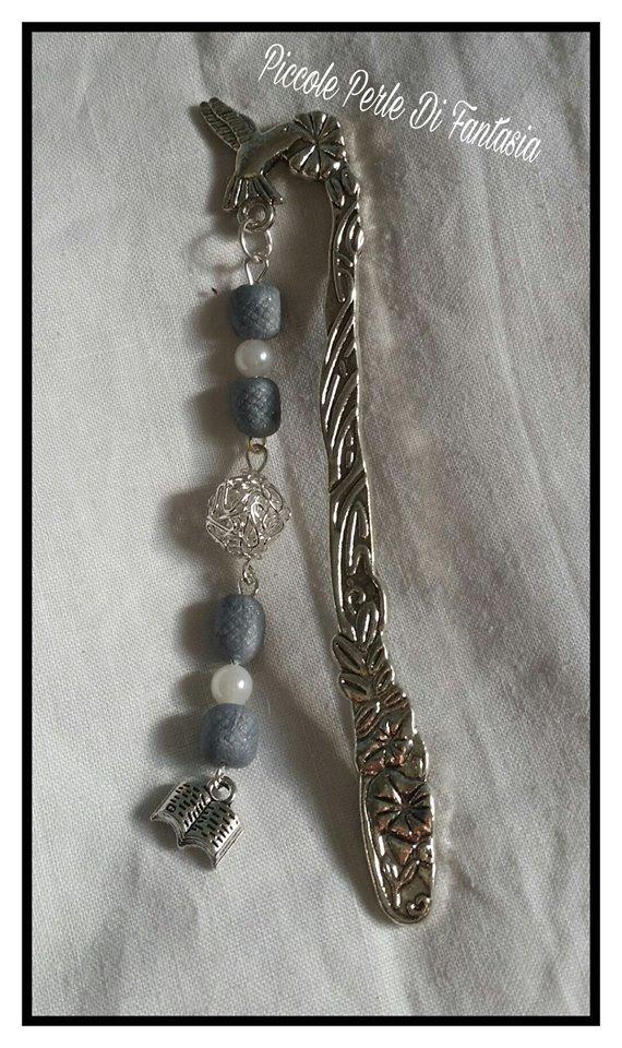 segnalibro con perle di fimo