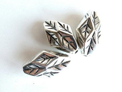 4 Perle argento antico acrilico PRL 423