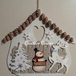 Fuoriporta natalizio in feltro