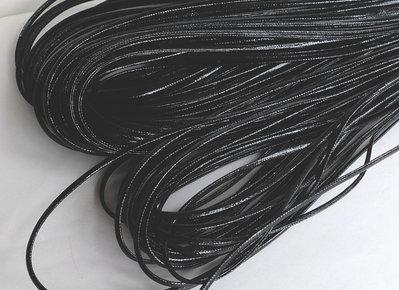 5 m Cordino in eco pelle nera FCO3T