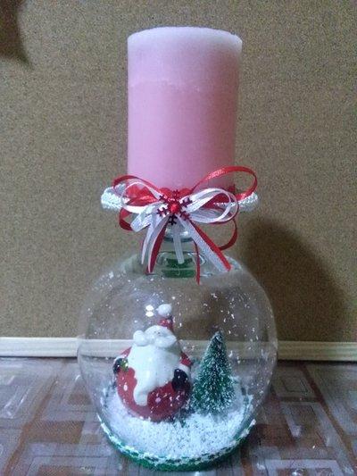 Centrotavola natalizio interamente fatto a mano