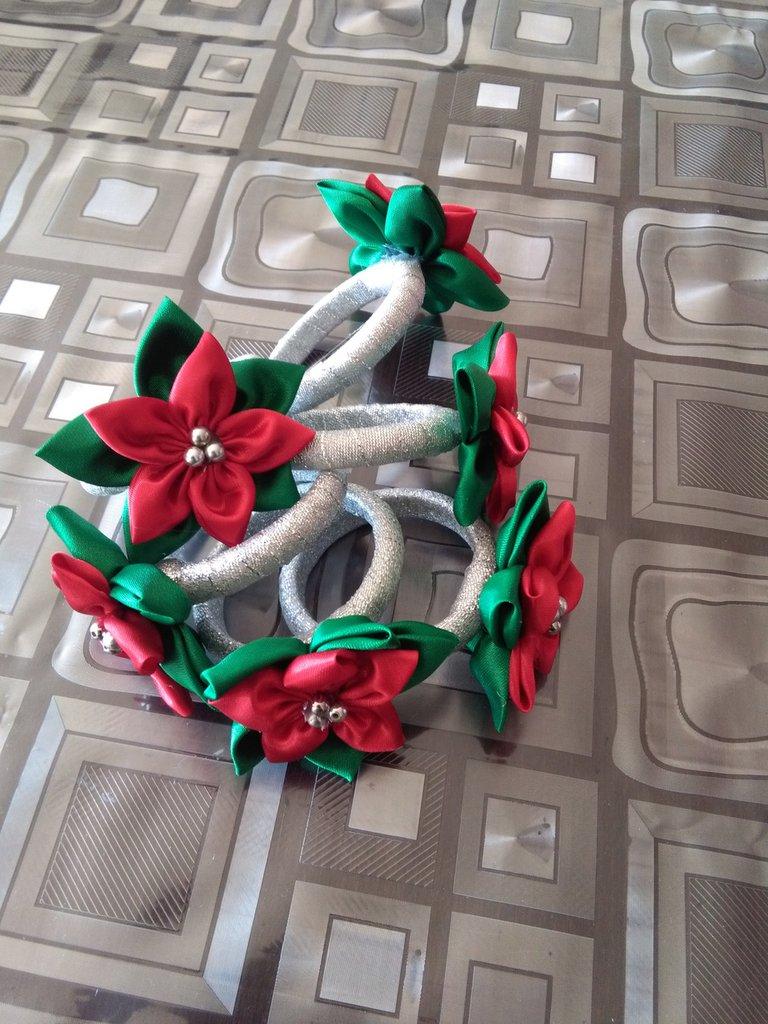 Fermatovagliolo segnaposto natalizio