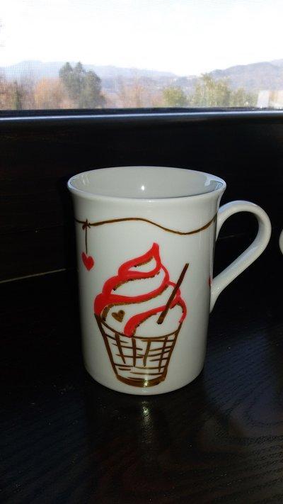 tazza decorata a mano