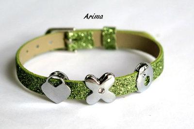 Braccialetto a cinturino verde BRA39