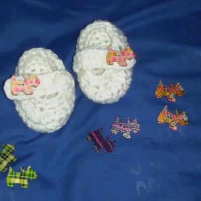 Scarpette scarpine  neonato regalo uncinetto