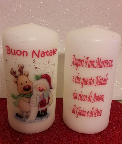 Candele natalizie decorate a mano