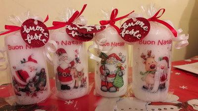 Decorare Candele Natale : Candele natalizie decorate a mano feste natale di witches cre